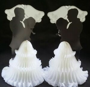 2 Wedding Centerpieces,Table Decor, Groom and Bride, Decoration,Boda,Cake topper
