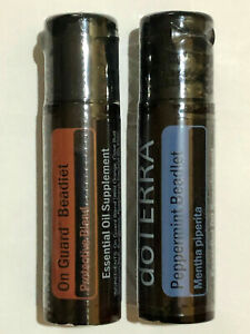 Lot of 2 doTerra Peppermint Beadlets & On Guard Beadlets 125 ct New And Sealed