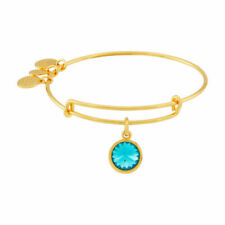 Alex and Ani Bangle Bar December Birthstone Bracelet, Yellow-Gold, 7.75