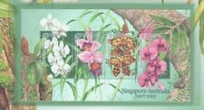 MINT 1998 JOINT ISSUE SINGAPORE AUSTRALIA ORCHIDS STAMP MINI SHEET