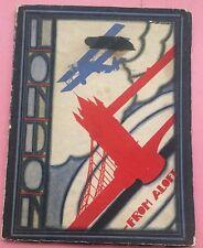 """RA128 1930s Souvenir Guide """"London from Aloft"""" RARE Deco Ads Artist Signed Cover"""