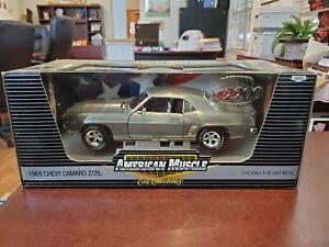 Rare 1969 Chevy Camaro Z/28 Raw Metal 1:18 American Muscle ERTL DieCast NOS