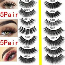 5 Pairs 3D 100% Mink Soft Long Natural Thick Makeup Eye Lashes False Eyelashes
