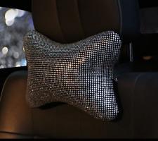 Luxury Bling Bling Rhinestone Plush Car Rest Cushion Seat Headrest Neck Pillow
