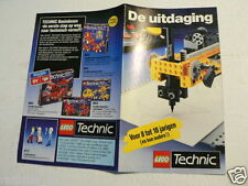 LEGO BROCHURE FLYER CATALOG TOYS TECHNIC 1990 DUTCH  8 PAGES 030