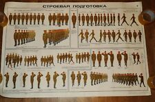 Authentic Soviet USSR Cold War Poster Army Military Regulations, Uniforms #2