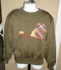 Child's VTG 1970s Sweatshirt Dog House & Dog Applique & Embroidered Sz 6x NOS