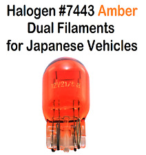(10) Halogen 7443 Bulb Amber Dual Filaments for Japanese Veh.