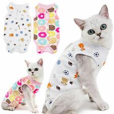 More details for pet anti licking surgery clothing wounds cat recovery suit cotton vest s/m/l/xl