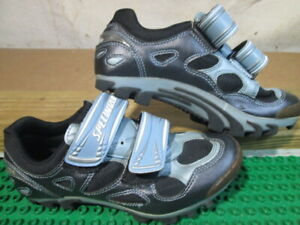 SPECIALIZED BG 610-01737 Mountain Bike Cycle SHOES WOMENS SIZE 7 With Cleats