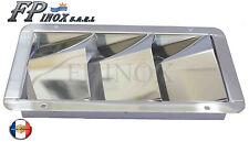 Grille d'aération 3 volets ( Moteur ) 205mmx114mm inox 316