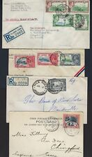 JAMAICA 1900 1930s COLL OF 4 REGISTERED COVERS MILE GULLY ALLMAN TOWN 1909 PC