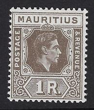 MAURITIUS: 1942 1 rupee grey-brown ordinary paper  SG 260b mint