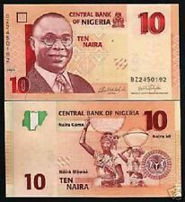 NIGERIA 10 NAIRA P-33 2006 *REPLACEMENT* BZ HORSE MAP UNC AFRICA MONEY BILL NOTE