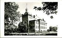 Vtg Postcard RPPC - Minnewaukan, North Dakota - Benson County Court House