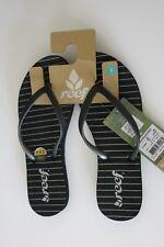 Reef 5 Women's Stargazer Black Glitter Summer Beach Sandal Flip-Flops Thongs NEW