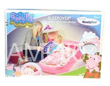 Peppa Pig Ready Bed Kids Sleeping Bag with Head Board Air Mattress & Pump *New