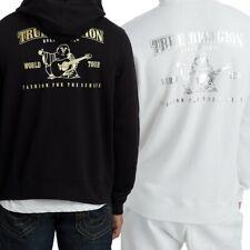 True Religion Men's Metallic Double Puff Buddha Hoodie Sweatshirt