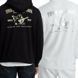 True Religion Men's Metallic Double Puff Buddha Hoodie Sweatshirt