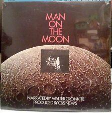 MAN ON THE MOON : WALTER CRONKITE NARRATED LP CBS NEWS 1969 SEALED HISTORIC!!