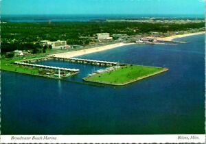 "Vintage Postcard  BILOXI MS  ""BROADWATER BEACH MARINA""  TELEPHONE & TV CABLE"