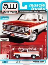 1976 CHEVROLET SCOTTSDALE C10 PICKUP TRUCK WHITE 1/64 AUTOWORLD 64242/ AWSP034 A