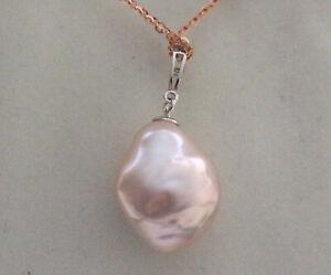 Aurora super size  AAAAAA 18.3mm Japanese kasumi pearl pendant  S925