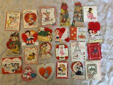 Vintage Lot Of Valentine Cards 1950s Valentines Day