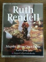 Ruth Rendell  Murder being once done  read by George Baker 2 cassette audio book