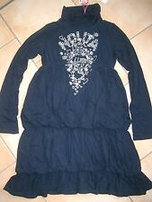 (265) Nolita Pocket Girls Kleid Logo Schriftzug Herzen Blumen Gummi Druck gr.110