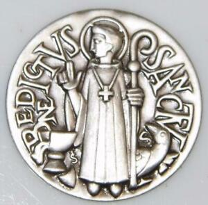 St. Benedict Shield Holy Medal Applique Patron of Exorcism Protection for Demons