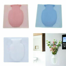 Magic DIY Rubber Silicone Sticky Flower Wall Hang Vase Floret Bottle Home D qxn