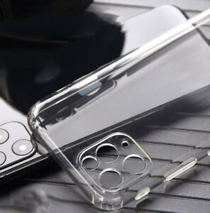 Luxury 360° Shockproof Protective Crystal Clear Silicone Back Phone Case Cover