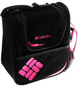 Columbia Alpine Falls Insulated Lunch Pack with Bottle Holder; Black/Pink (OS)