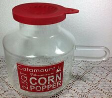 Catamount Flameware 2.5 Quart Glass Microwave Popcorn Popper