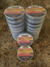 3M Scotch Super 33+ Black Vinyl Electrical Tape LOT OF 20!!!!!! 66 FT, 3/4 IN