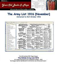 British Army List 1916 WW1 CDROM