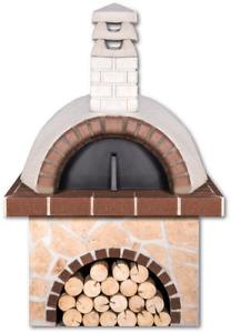 Steinofen Holzofen Pizzaofen XL Innendurchmesser Brennkammer 0,90m