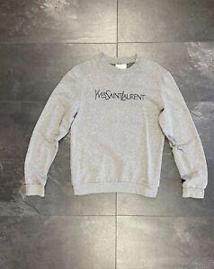 Yves Saint Laurent YSL vintage pullover sweater fleece sweatshirt long sleeve