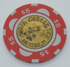 MGM-Desert Inn $5 Casino Chip Las Vegas Nevada House Mold Brass Coin Inlay 1988