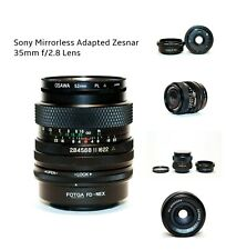 Sony Mirrorless Adapted Zesnar 35mm f/2.8 Lens & Polarizer + E-mount Adapter