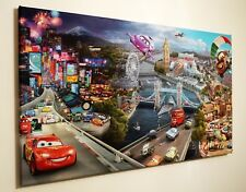 DISNEY CARS  CANVAS PRINT WALL ART PICTURE 18 X 32 INCH