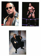 Rock WWF Wrestling Promo 3 Card Set P1-P3 Comic Images 2000 Z4