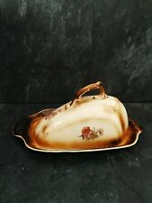 More details for porcelain cheese dish, a lovely antique english cheese or butter keeper 12