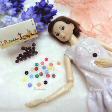 Bjd Dollfie Doll Dress DIY Sewing Tiny Circular Round Button 5mm Black (20pcs)