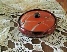 Vintage Plastic Trinket Dish Bowl w/ Lid Japan