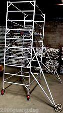 Aluminium Mobile Scaffold Tower W37 Scaffolding Platform Ht 3m L:2.6m W:1.3m