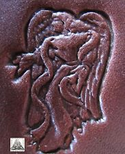 """Discontinued Craftool CO. USA Angel With Helping Hand Rare 1"""" Leather Stamp 8534"""