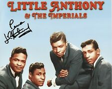 LITTLE ANTHONY Signed 12x8 Photo THE IMPERIALS SOUL Legend COA