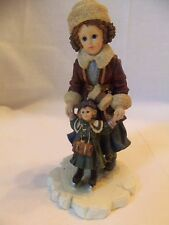 Boyds Bears DOLLSTONE YESTERDAYS CHILD KRISTI w/NICOLE #3516 Skating Retired NIB
